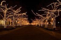 Подключение освещения зданий в Элисте